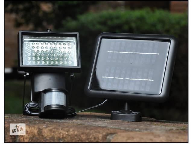 купить бу Прожектор на солнечной батарее 60 LED с датчиком движения, светильник в Южном