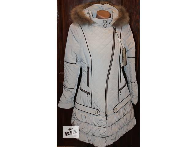 купить бу Пуховик_куртка_пальто (48,46р, 2 в 1, новое, холлофайбер, мех песец)  в Бродах (Львовской обл.)