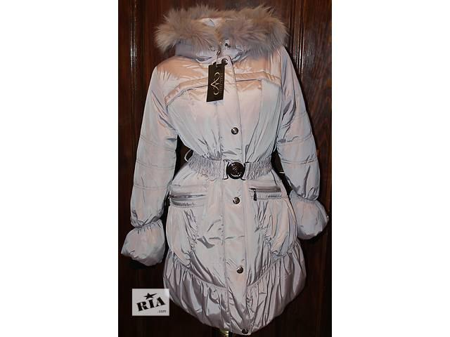 бу Пуховик пальто/куртка (44 и 48 размеры, новое, холлофайбер, мех песец) в Бродах (Львовской обл.)