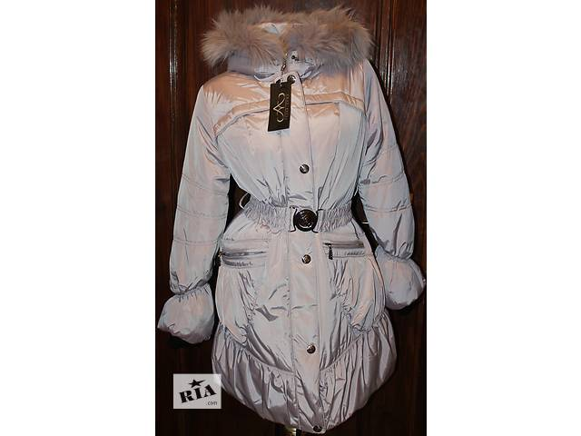 продам Пуховик пальто куртка (44 и 48 размеры, новое, холлофайбер, мех песец)  бу в Бродах (Львовской обл.)