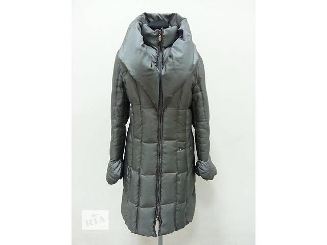 купить бу Пуховик, пуховое пальто Elisa Cavaletti ( Италия ), легкий и теплый, цвет - серо / зеленый. в Киеве