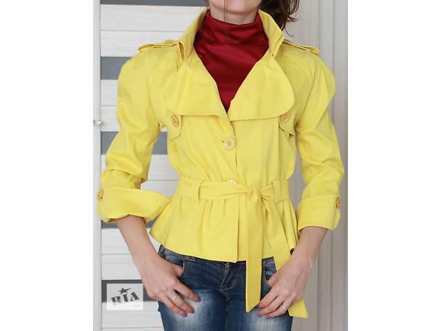 Пиджак желтый, коттон - размер S- объявление о продаже  в Киеве