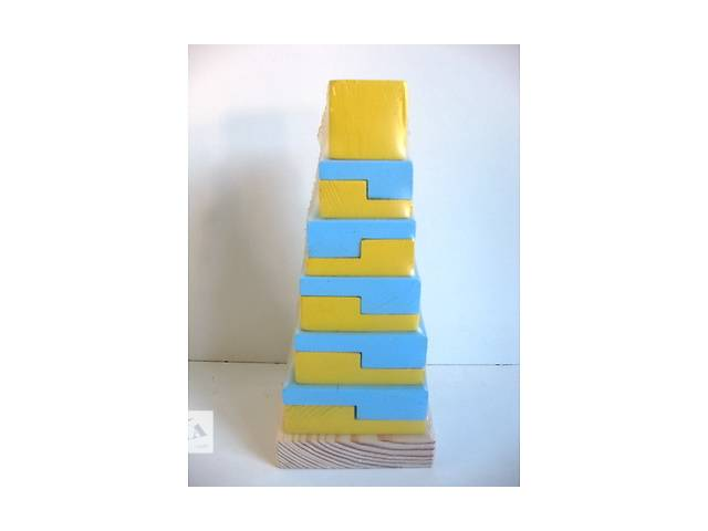 Пирамидка дерев.цветн. Eco Toy - объявление о продаже  в Кропивницком (Кировограде)