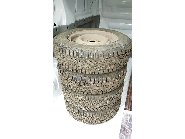 бу R13 Fulda + Pirelli (шип) Комплект шин с дисками в Харькове