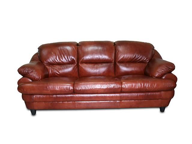 Раскладной диван в коже SARA 3р. Польша. Бесплатная доставка- объявление о продаже  в Киеве