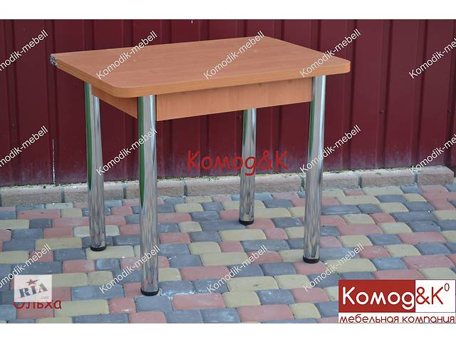 Раскладной обеденный стол на хромированных ногах 900*600- объявление о продаже  в Дружковке