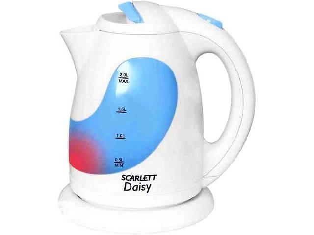 купить бу Чайник Scarlett мощный/высок качества с грандиозной скидкой/нет запаха пластика/многоуровнев защита//красный свет внутри в Днепре (Днепропетровск)