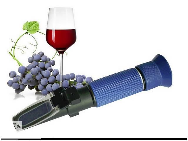 купить бу Рефрактометр для вина и сусла RHW-25DATC, 0-40% Brix, 0-25% vol, 0-22% Baume, 3 шкалы в Южном (Одесской обл.) (Южный)