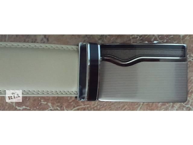 Ремень кожаный светлый автоматический- объявление о продаже  в Кривом Роге