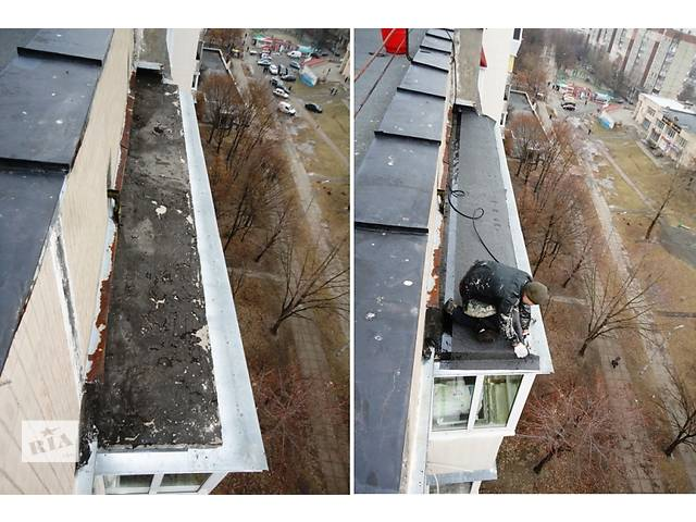 Гидроизоляция крыши балкона на последнем этаже.