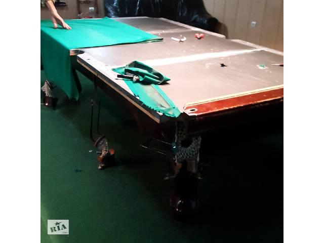 бу ремонт и перетяжка бильярдных и покерных столов  в Украине
