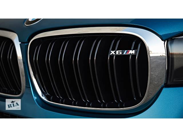 купить бу Решетка радиатора ноздри BMW X6 F16 стиль M Sport Paket хром окантовка БМВ Х6 Ф16 в Луцке