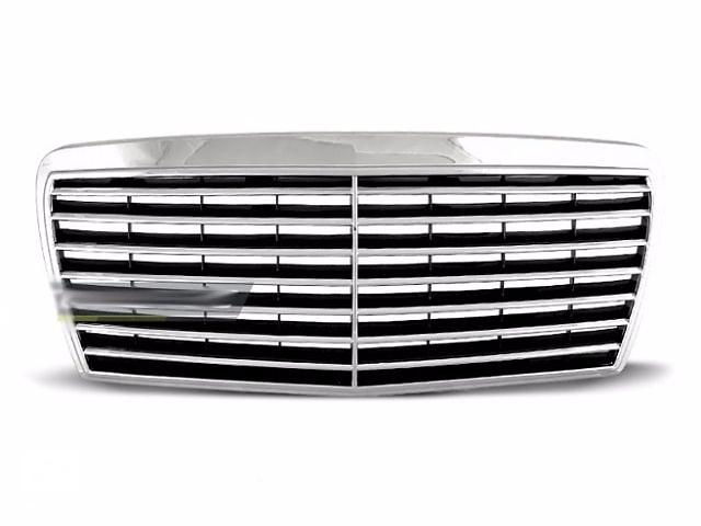 купить бу Решетка радиатора тюнинг Mercedes W124 FL стиль Avantgarde (GRME02) в Луцке