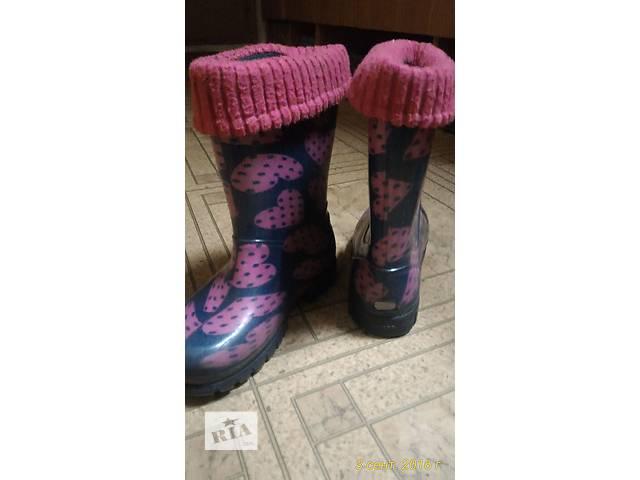 продам Резиновые сапоги на девочку бу в Киеве