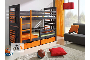 Roland - дизайнерская двухъярусная кровать из массива дерева, от фабрики мебели