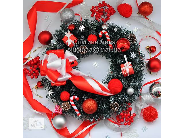 купить бу Рождественский венок, новогоднее украшение, новогодний декор в Черноморске (Ильичевск)