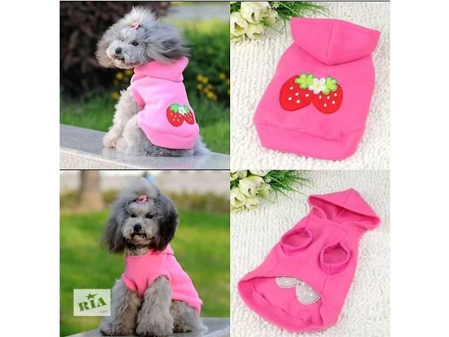 продам Розовая, флисовая толстовка для собак. бу в Черновцах