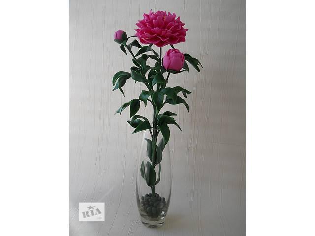 продам Розовый пион  из холодного фарфора. Ручная авторская работа. Цветок в подарок. бу в Запорожье