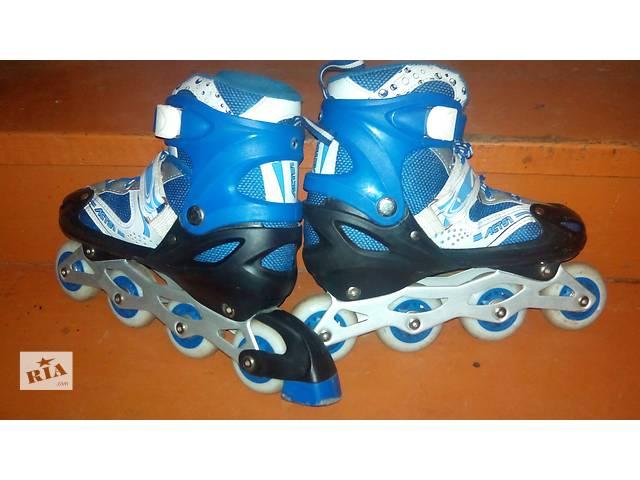 купить бу Раздвижные роликовые коньки ролики ACTS1 38-41 размеры, синие в Луцке