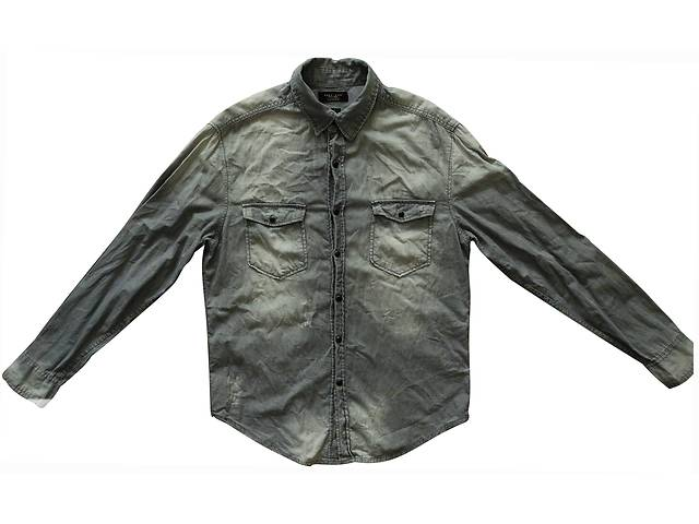 купить бу Рубашка серая джинсовая Zara Man L М в Полтаве
