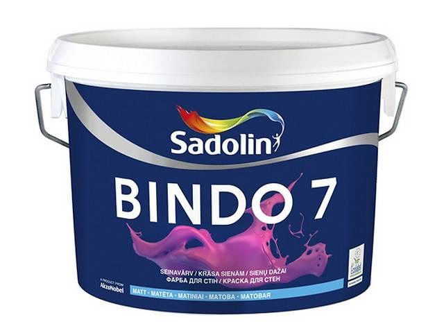 купить бу SADOLIN BINDO 7 ВОДОЭМУЛЬСИОННАЯ КРАСКА САДОЛИН БИНДО 7 (МАТОВАЯ) 10Л в Киеве