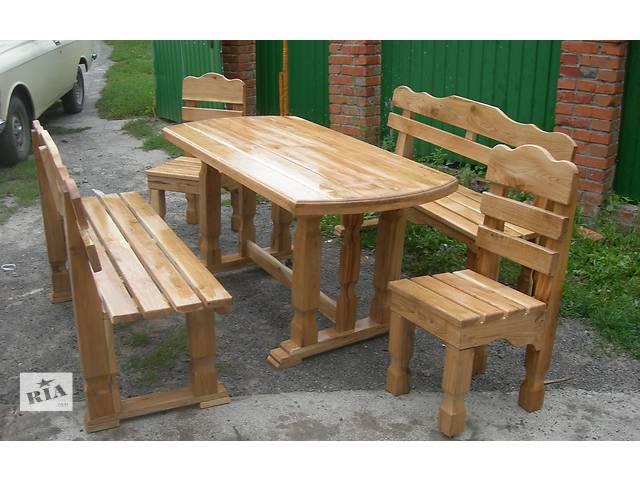 купить бу Садовая мебель, декор Наборы садовой мебели Столы скамейки новый в Виннице