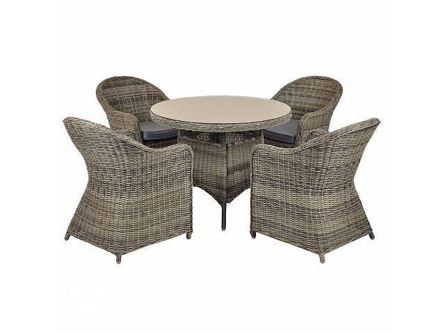 продам Садовая мебель набор из техноротанга 4+1 WICKER ROUND бу в Тернополе