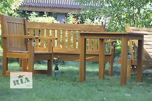 Садовая мебель из дерева.