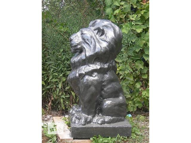 купить бу Декор для сада Садовые скульптуры скульптура льва из бетона в Виннице