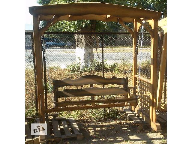 продам Садовые качели деревянные бу в Виннице