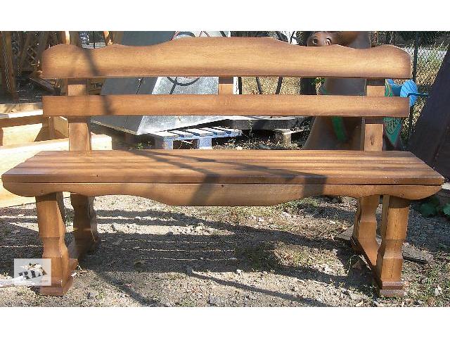 купить бу Садовые скамейки из дуба в Виннице
