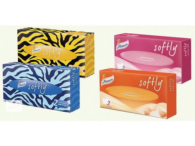 Салфетки Almusso Softly бумажные двухслойные в коробках- объявление о продаже  в Нововолынске