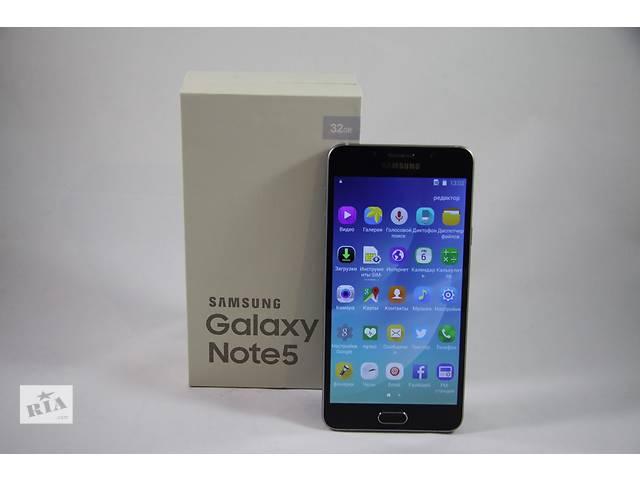 купить бу Samsung Galaxy Note 5 (1SIM) ( белый, черный) в Киеве