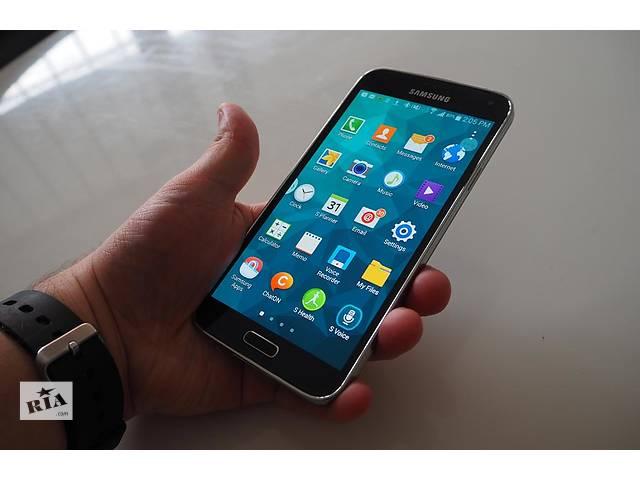 купить бу Samsung Galaxy S5 2 Sim + Чехол в Подарок! в Киеве