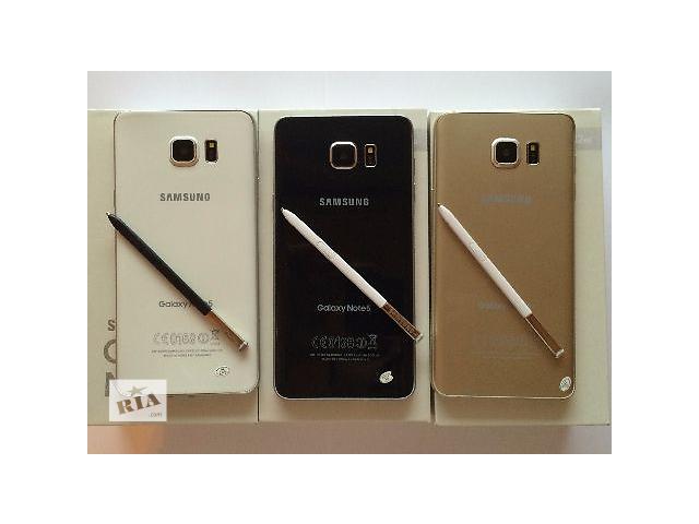 """бу Samsung Galaxy Note 5 Огромный Экран 5.7""""! 8-Ядер! 32Gb! Новый товар! Высокое качество! в Киеве"""