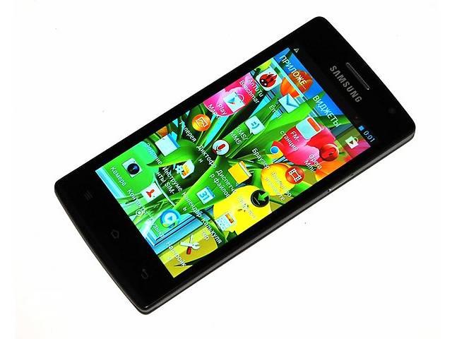 """продам Samsung S6 экран 4.5"""", 2 ядра, Android 4.4.2, 4Гб, камера 5МП - Черный бу в Запорожье"""