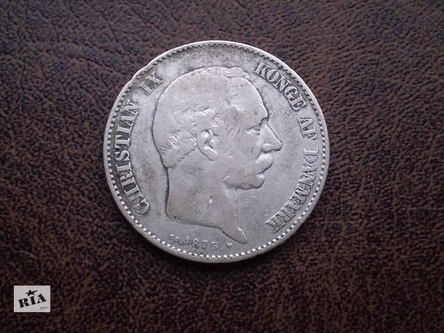Серебро королевство Дания 2 кроны 1875-го года- объявление о продаже  в Черновцах