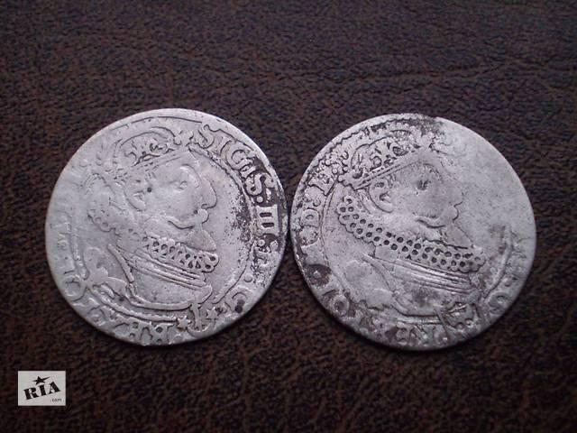 бу Серебро шестак 1623-го года Речь Посполитая в Черновцах