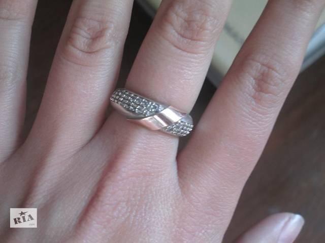 купить бу Серебрянное кольцо с золотом в Хмельницком