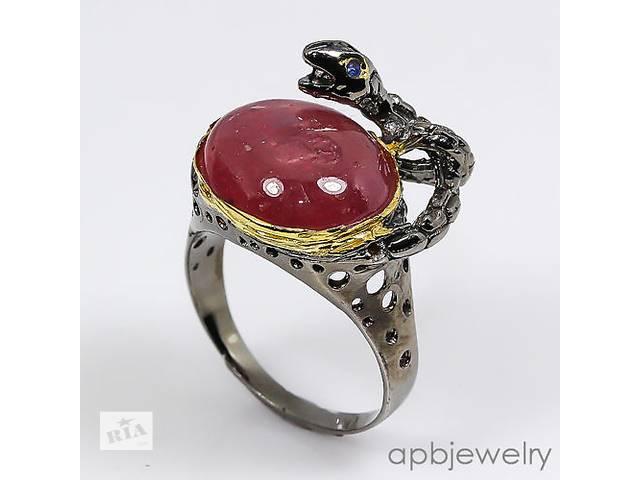 Серебряное кольцо с крупным рубином! Таиланд! 19 р.- объявление о продаже  в Виннице