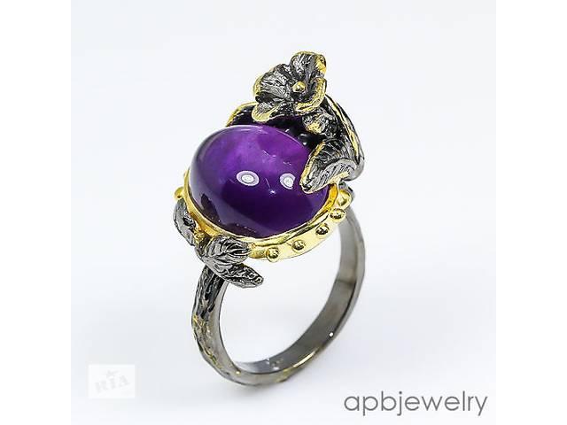 купить бу Серебряное кольцо с натуральным аметистом! Таиланд в Виннице