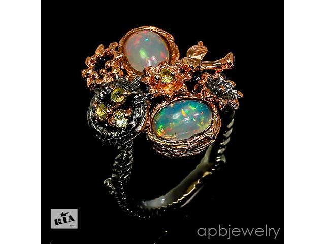 Серебряное кольцо с натуральными опалами 17,25 р.- объявление о продаже  в Виннице