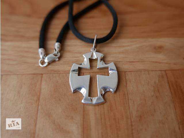купить бу Серебряный кулон Крест 925 проба в Киеве