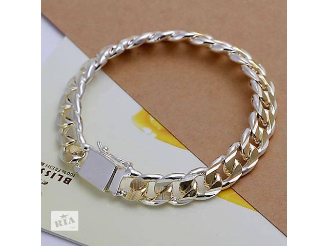 Серебряный мужской браслет  925 проба- объявление о продаже  в Городище