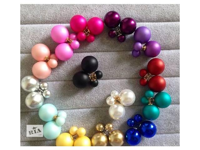 продам Серьги пуссеты Dior разные цвета бу в Харькове