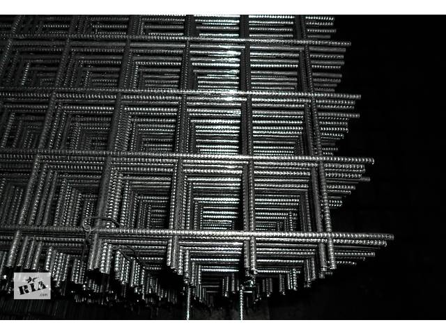 купить бу Сетка сварная д3мм, 4мм,5мм,6мм и из арматуры 8-12мм,по ширине до 2,5м. в Днепре (Днепропетровске)