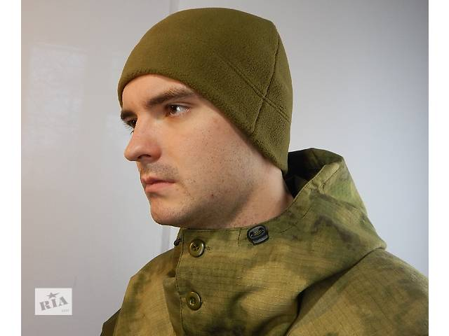 купить бу Шапка флисовая супер теплая fleece олива хаки зима осень в Кременчуге