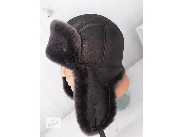 купить бу Шапка ушанка из овчины модель шлем в Харькове