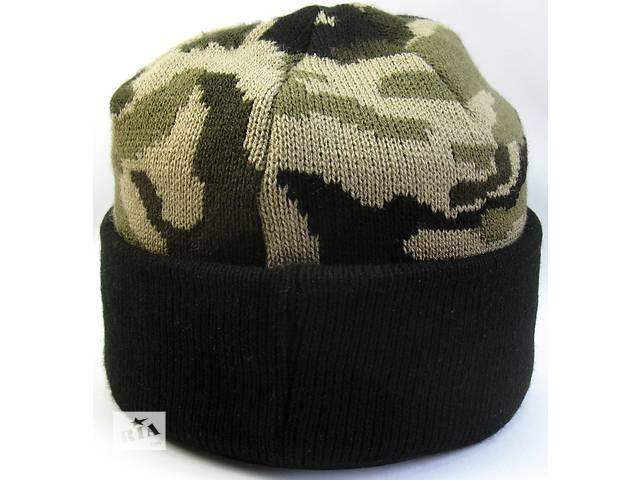 Шапка вязанная , № 2 , камуфляж , маскировочная шапка , шапка военная  , черный подворот- объявление о продаже  в Черновцах