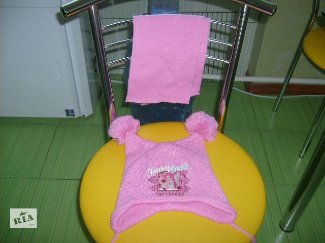 купить бу шапочка зимняя для девочки+шарфик в Вознесенске